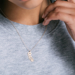 State Pride Charm Necklace - Gold