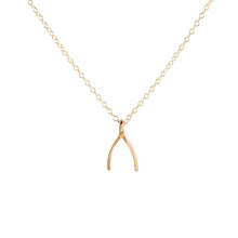 Load image into Gallery viewer, Wishbone Charm Necklace