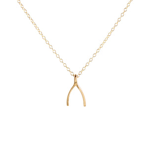 Wishbone Charm Necklace