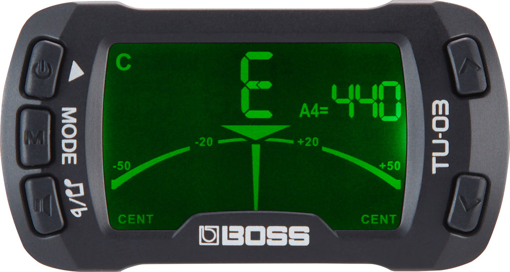 BOSS - TU-03 Clip-on tuner & metronome
