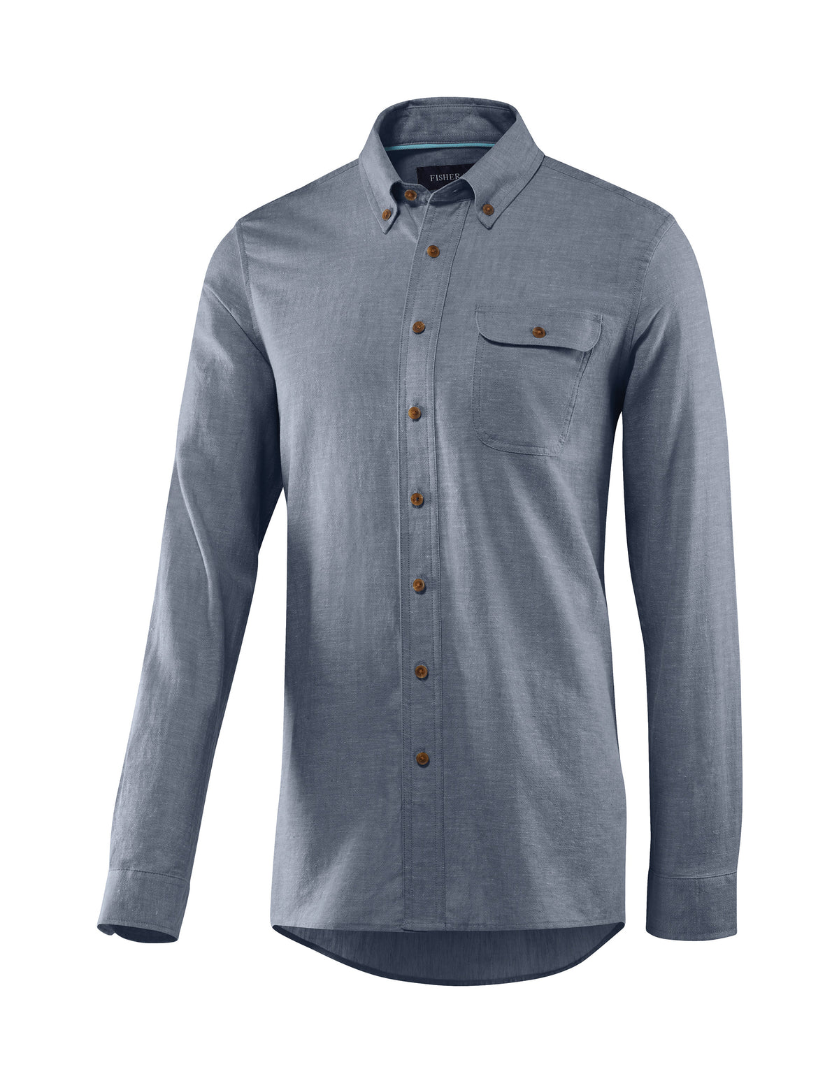 Men's Bastille Long Sleeve Button Down Hemp and Organic Cotton Shirt by Fisher + Baker Insignia