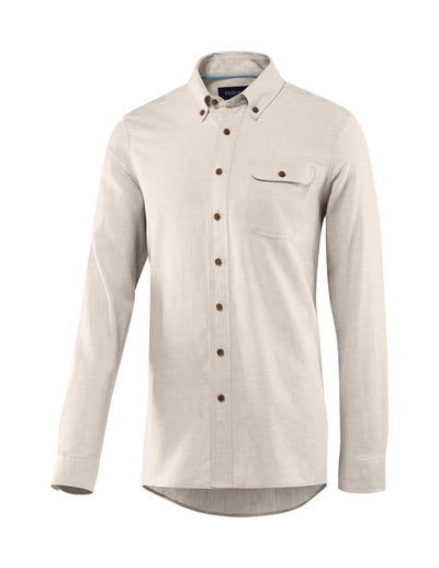 Men's Bastille Long Sleeve Button Down Hemp and Organic Cotton Shirt by Fisher + Baker Rose