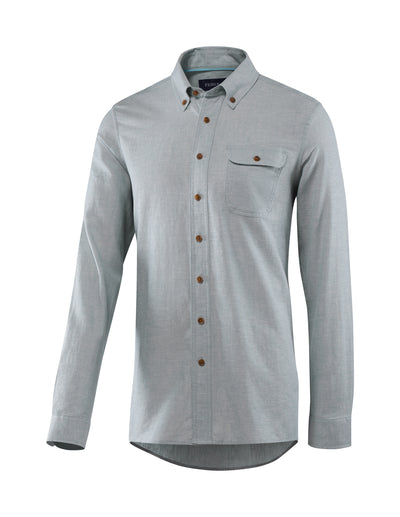 Men's Bastille Long Sleeve Button Down Hemp and Organic Cotton Shirt by Fisher + Baker Sky