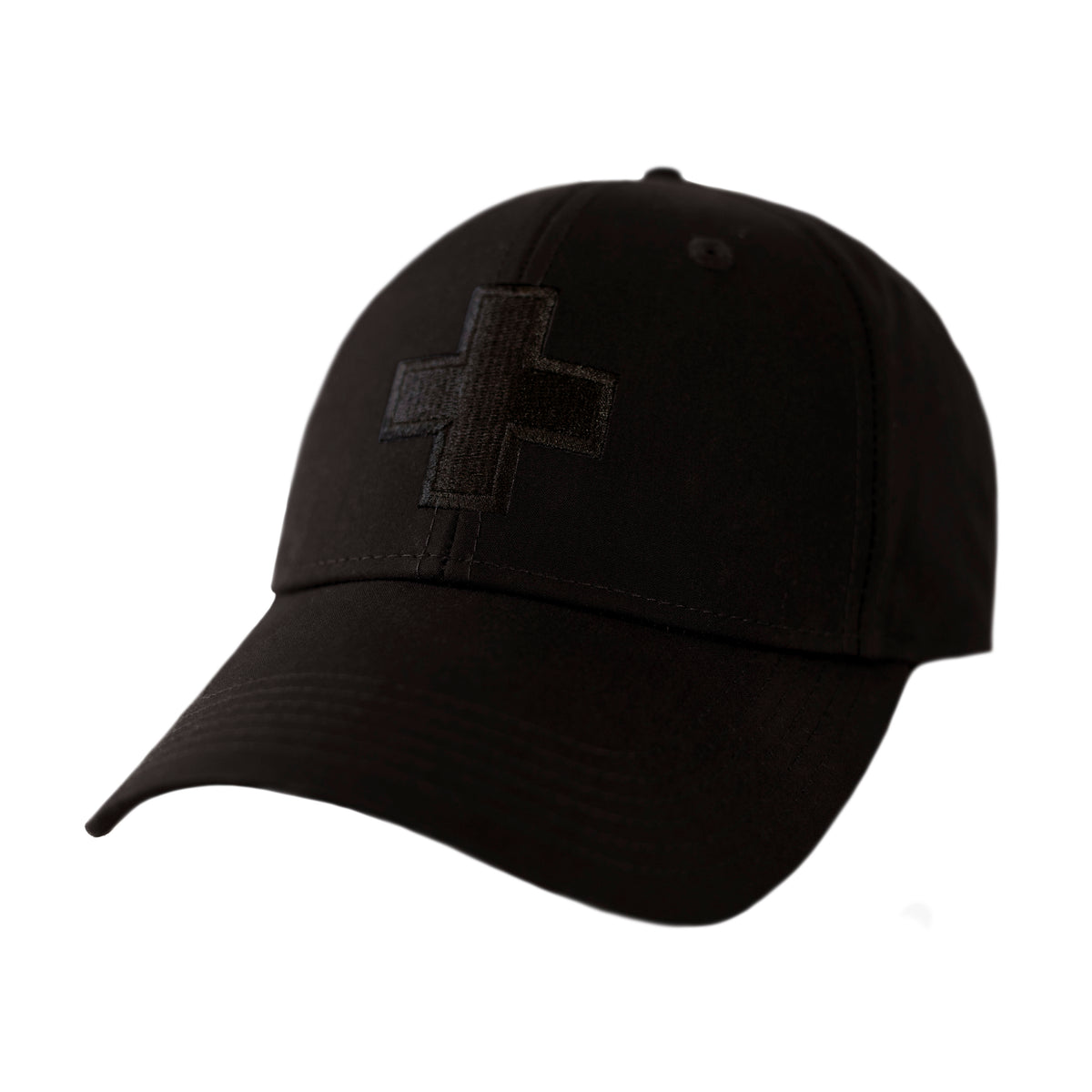 Men's Water Resistant Ventile Cotton Ball Cap By Fisher and Baker Black + Embroidered Logo