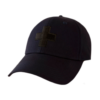 Men's Water Resistant Ventile Cotton Ball Cap By Fisher and Baker Navy + Embroidered Logo