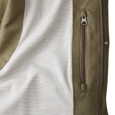 Men's Lexington Insulated and Lined Vest by Fisher + Baker Olive Powerwool Merino Wool Lining and Media Pocket