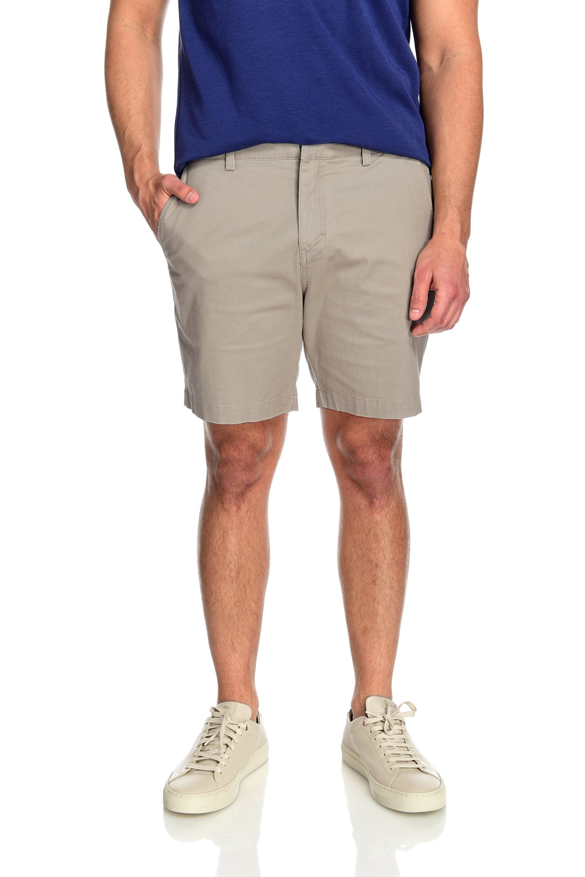 Men's 2-way stretching and breathable cotton blend Grayson Shorts in Khaki