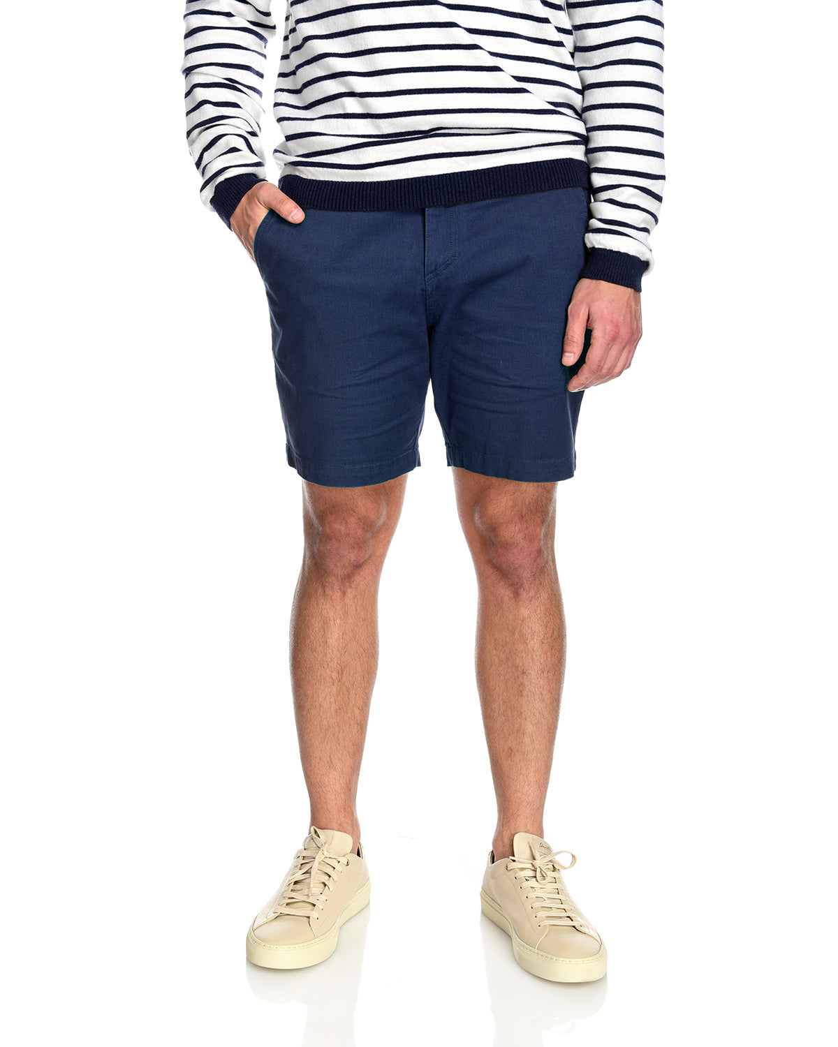 Men's 2-way stretching and breathable cotton blend Grayson Shorts in Navy