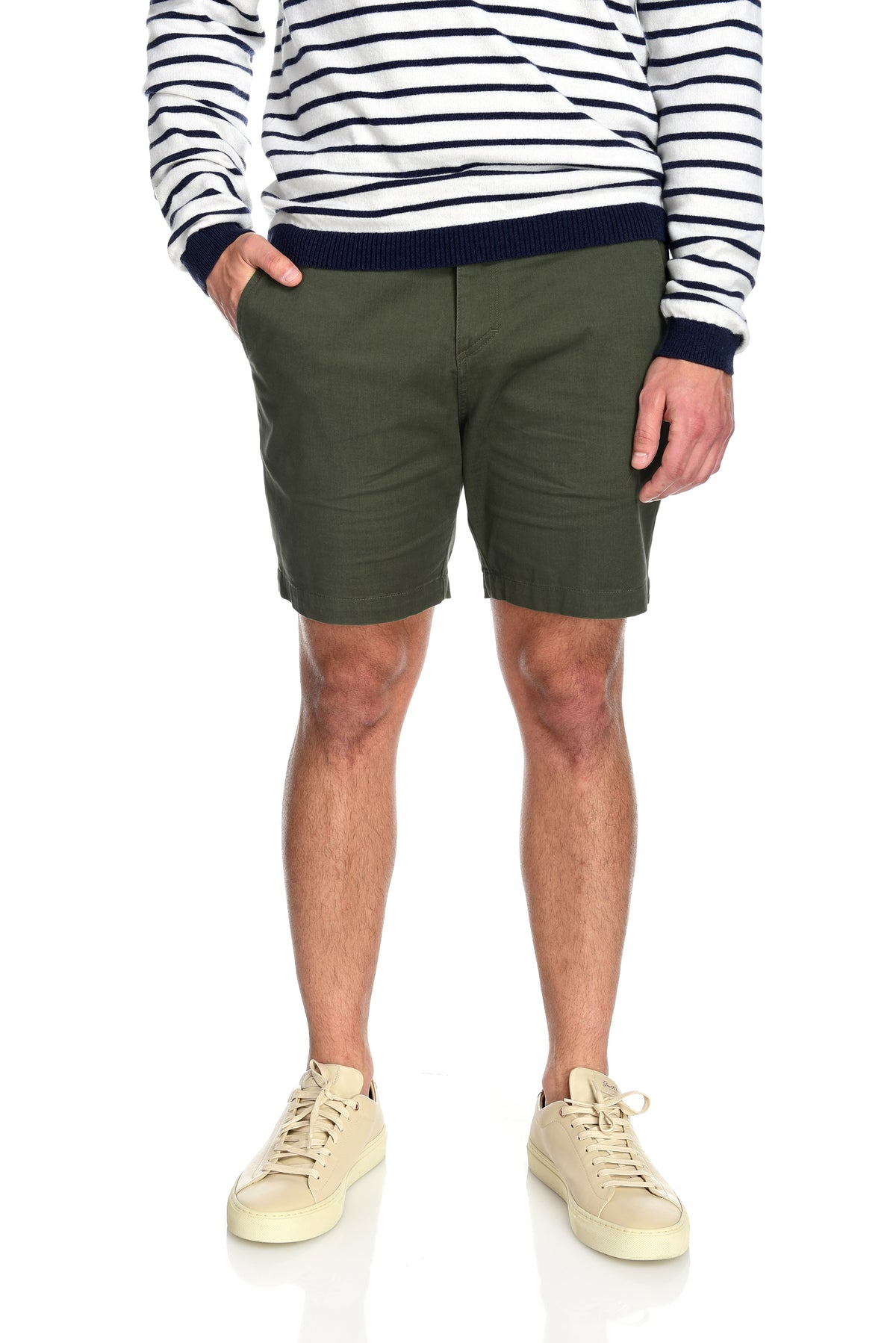 Men's 2-way stretching and breathable cotton blend Grayson Shorts in Olive