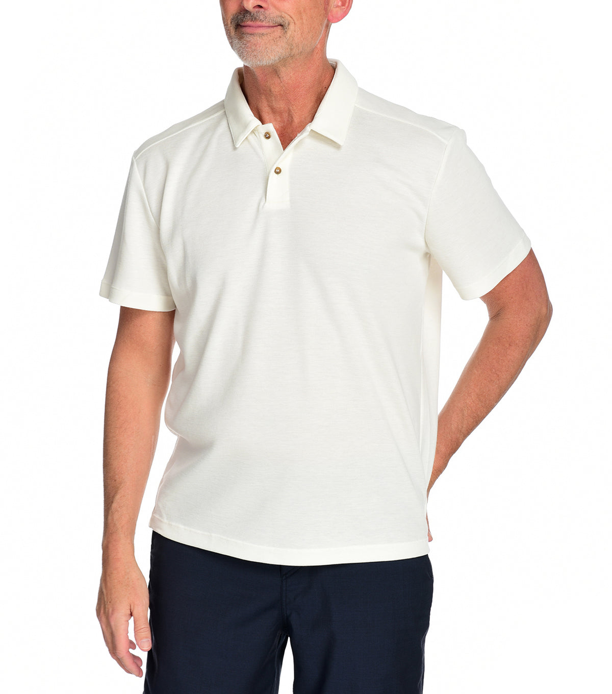 Men's Kent Polo by Fisher + Baker Natural