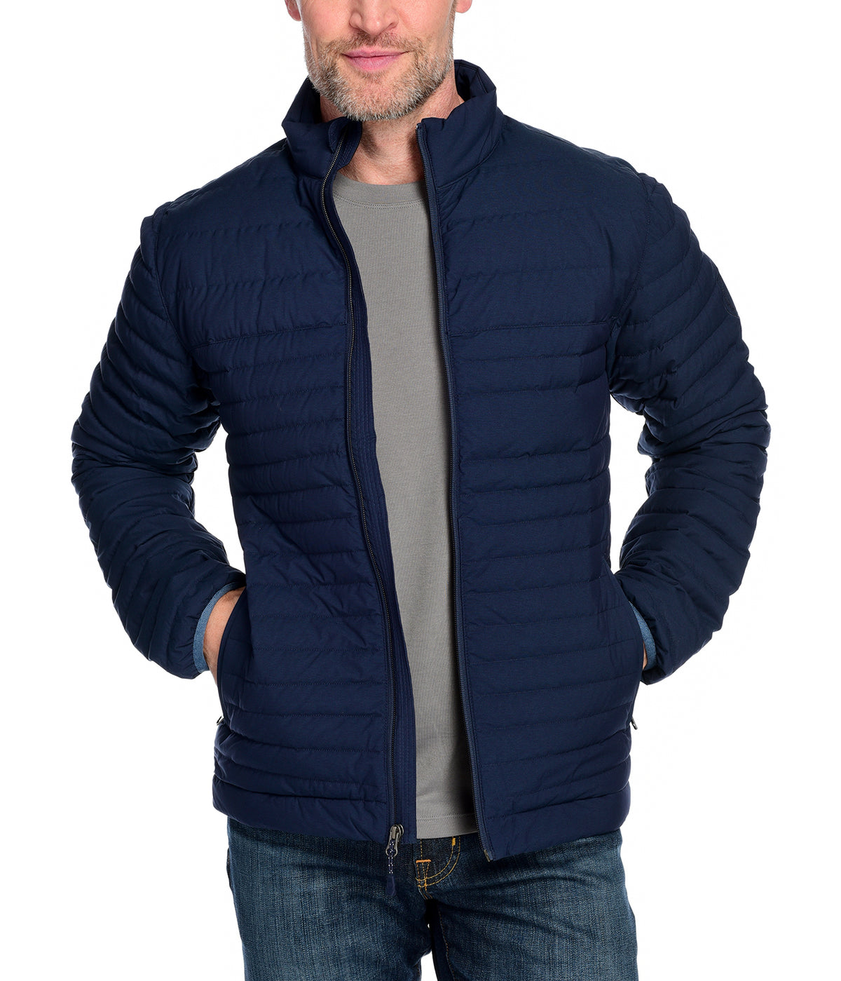 Men's Down Insulated Jacket the Passage Jacket by Fisher + Baker Navy