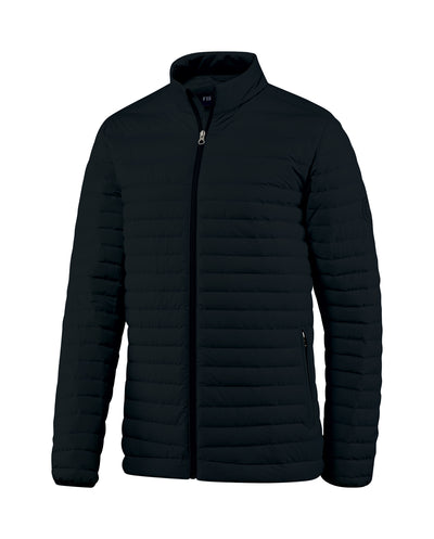 Men's Down Insulated Jacket the Passage Jacket by Fisher + Baker Black