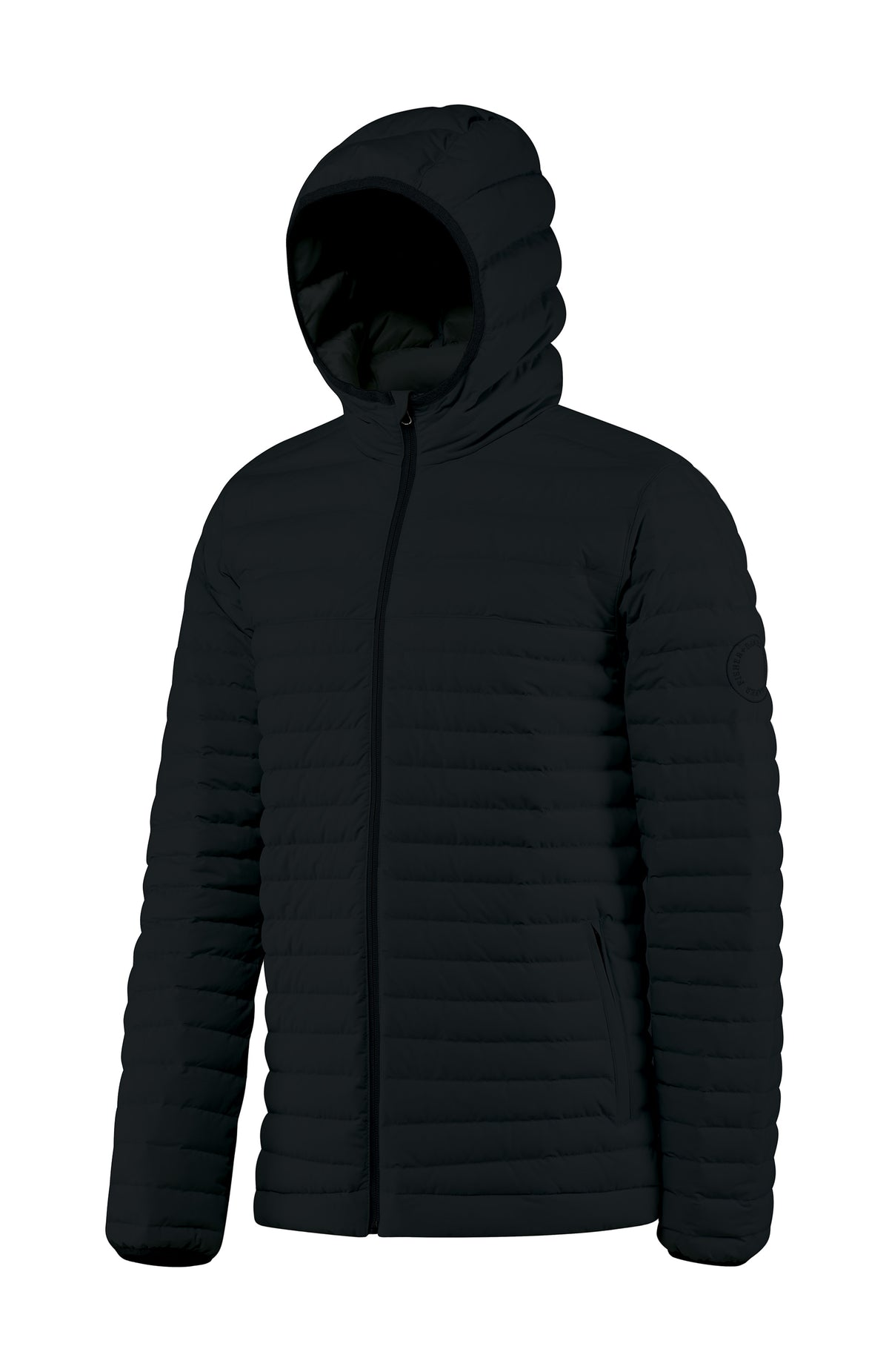 Men's Hooded Down Insulated Jacket the Passage by Fisher + Baker Black