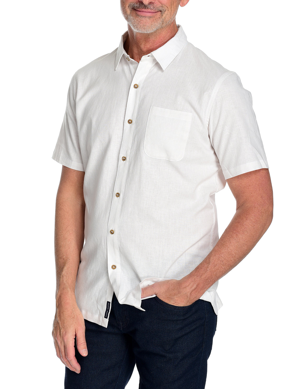 Men's Short Sleeve Shirt the Radium Shirt by Fisher + Baker White