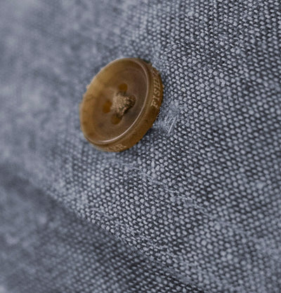 Men's Long Sleeve Button Down Shirt the Bastille Shirt by Fisher + Baker With a Traceable Horn Buttons Button Flap Pocket