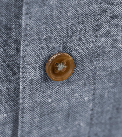 Men's Short Sleeve Shirt the Radium Shirt by Fisher + Baker With Custom Horn Buttons