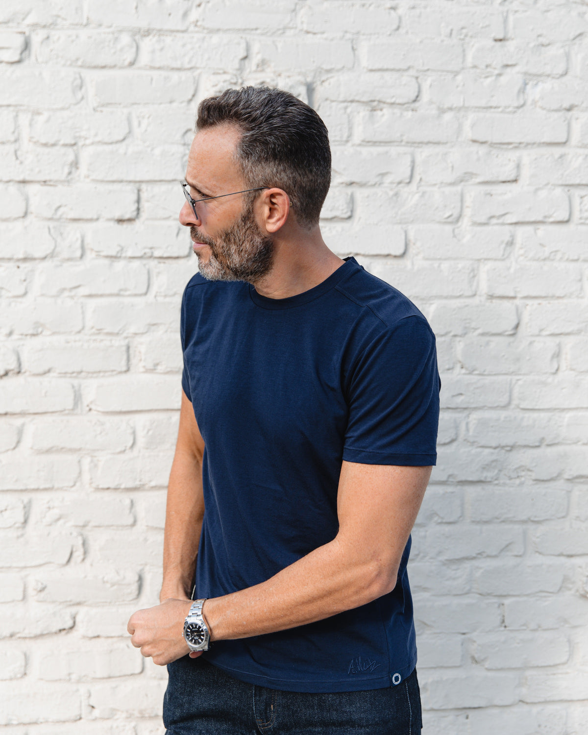 Men's Everyday Cashmere Short Sleeve Crew The Weitz Effect Edition