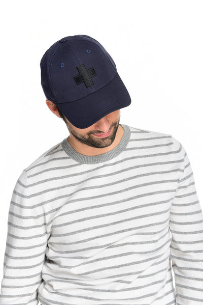 Men's Water Resistant Ventile Cotton Ball Cap By Fisher and Baker Navy