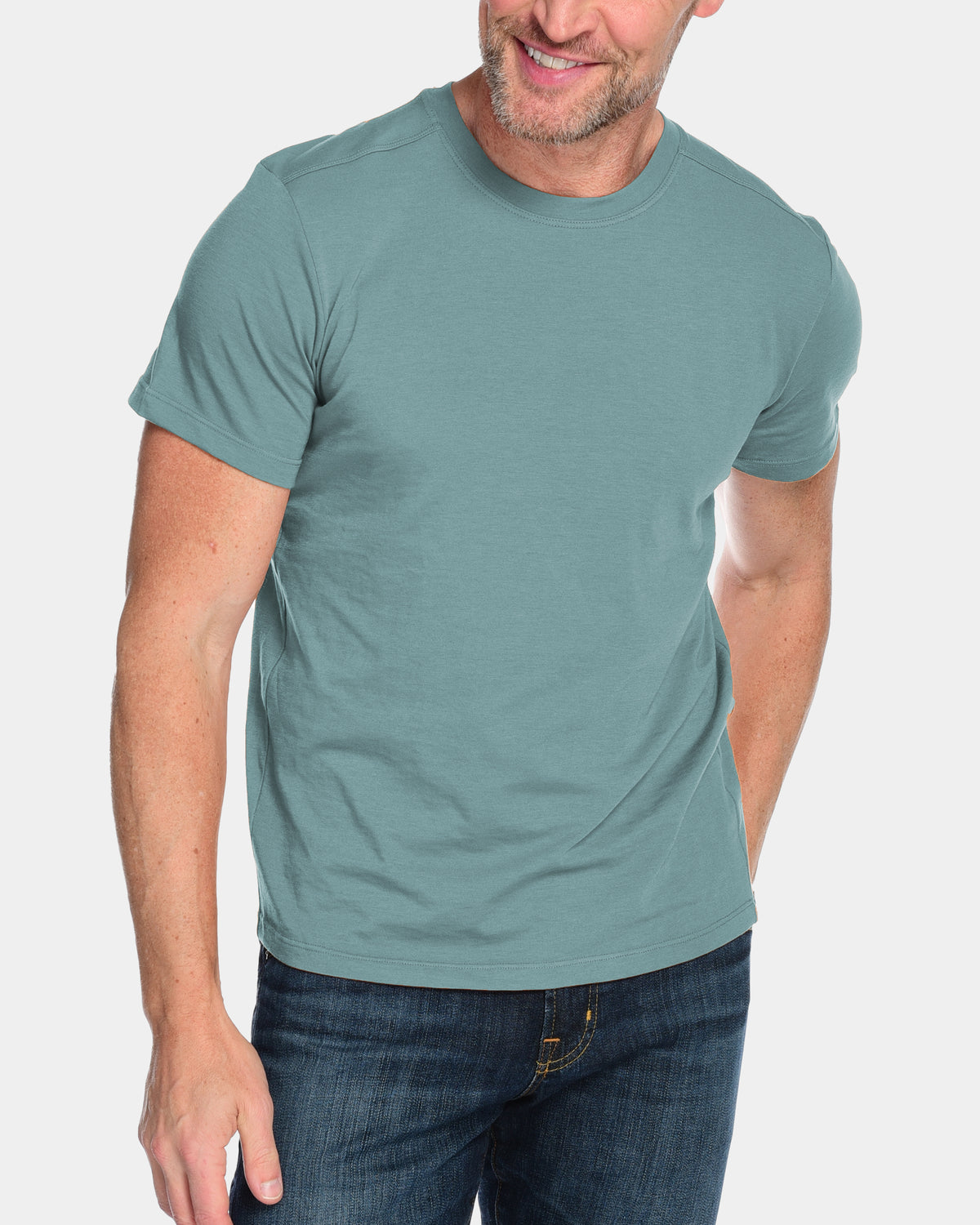 Men's Everyday Cashmere Short Sleeve Crew (Made in USA)