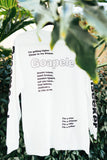 Long sleeve lyric t-shirt - White