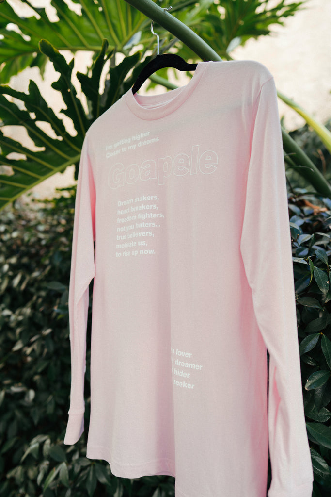 Long sleeve lyric t-shirt - Pink