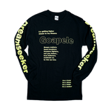 Long sleeve lyric t-shirt - Black & Bright Yellow