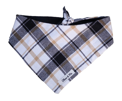 Hints of Gold Plaid Bandana