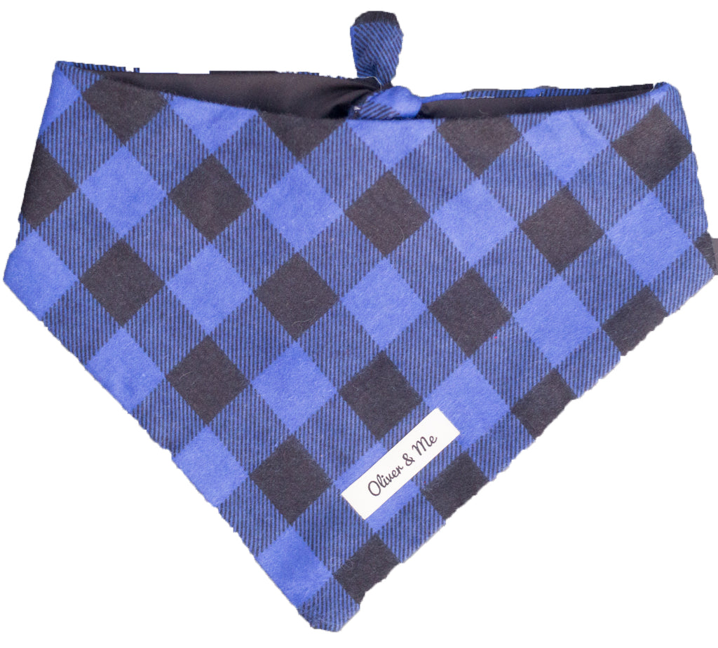 Royal Blue Buffalo Check Bandana