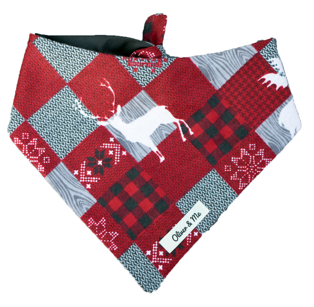 Reindeer Plaid Bandana