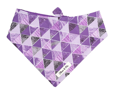 Space Geo Purple Bandana