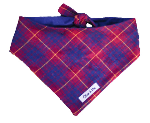 Berry Plaid Bandana