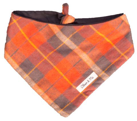 Amber Plaid Bandana