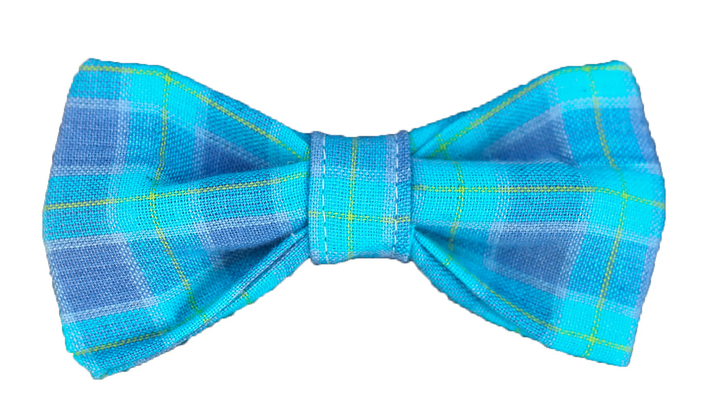 Periwinkle Plaid Bow Tie