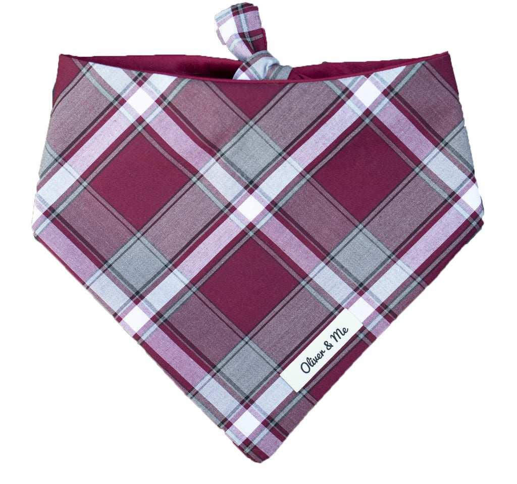 Mulberry Plaid Bandana