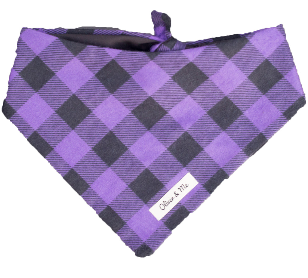 Royal Purple Buffalo Check Bandana