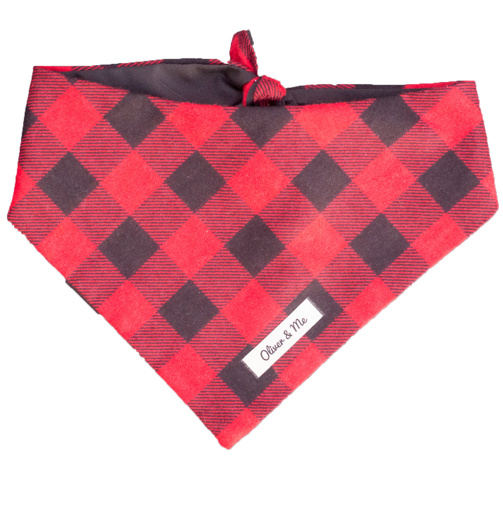 Red Buffalo Check Bandana