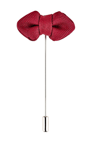 Red Bow Tie Lapel Pin - Mens Tweed Suits