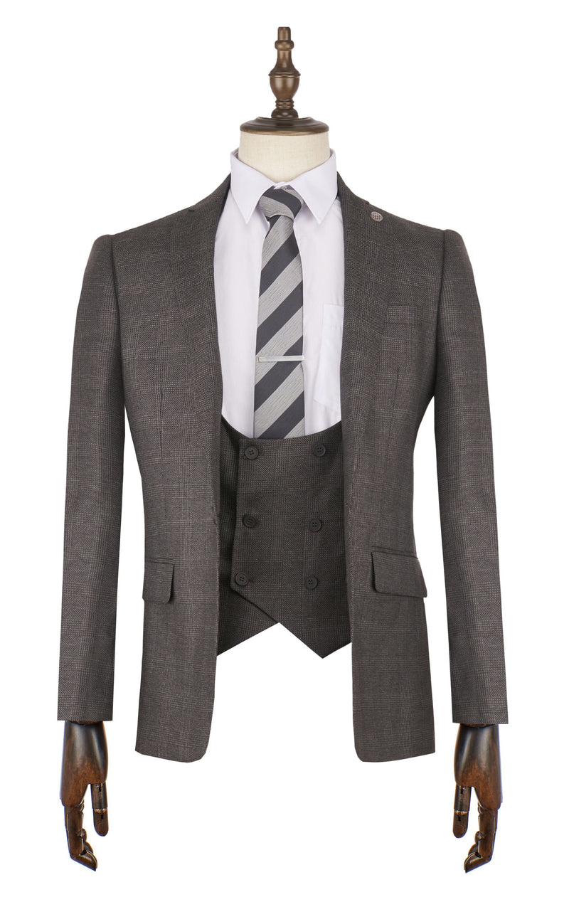Conti Check Suit - Mens Tweed Suits