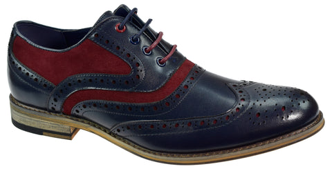 Ethan Navy Brogues - Mens Tweed Suits