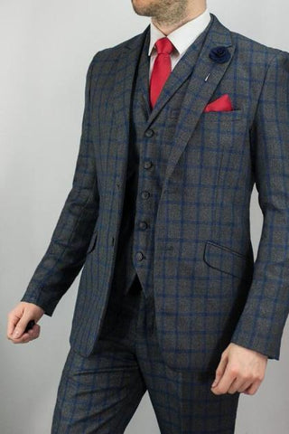 Mens Tweed Check Suits