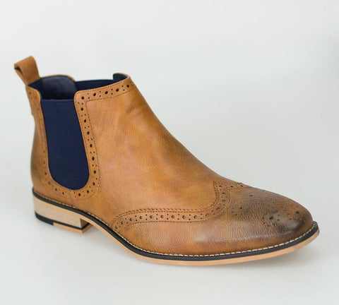 Hound Tan Boots - Mens Tweed Suits