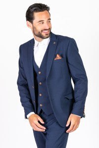 Marc Darcy Mens Suits Navy Colour Funky Fabric