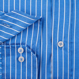 Mens Blue Stripe Wedding Party Shirt