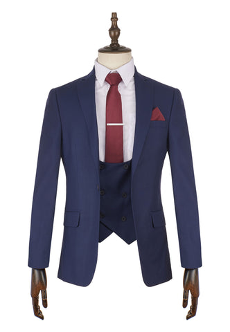 Marcelo Navy Suit - Mens Tweed Suits