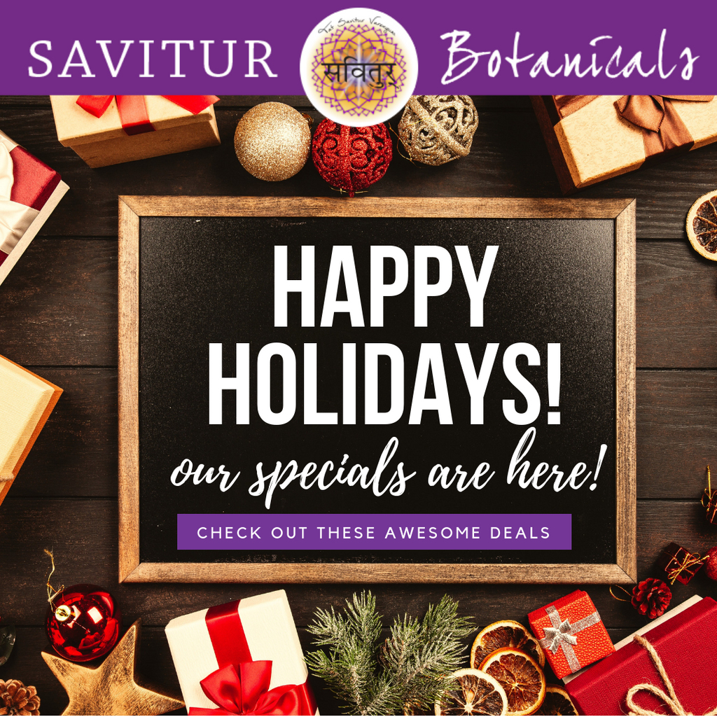 Essential Oil Holidays Specials!  Black-Friday to Cyber-Monday