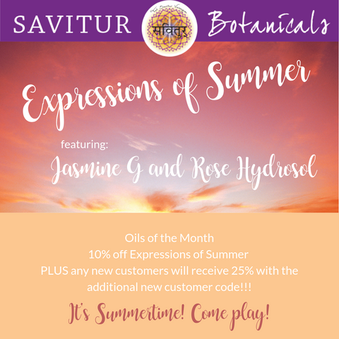 10% off Summery Oils for June