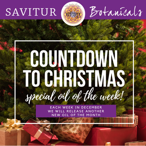 Countdown to Christmas - Each week we release a new essential oil of the month special