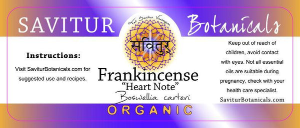 "BULK Frankincense, Carteri ""Heart Note"""
