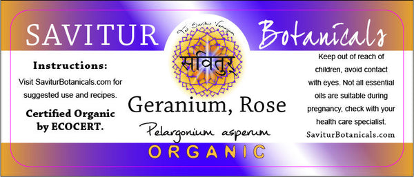 Geranium, Rose (Bio-Certified)