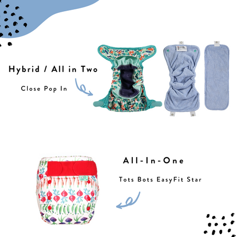 all in one and hybrid cloth nappies